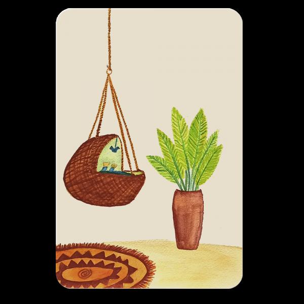 postkaart wieg